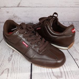 LEVI'S men's brown lace up sneakers 8